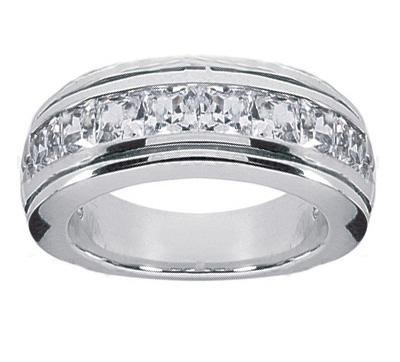 150 ct tw mens princess cut diamond wedding band ring in platinumamazoncom