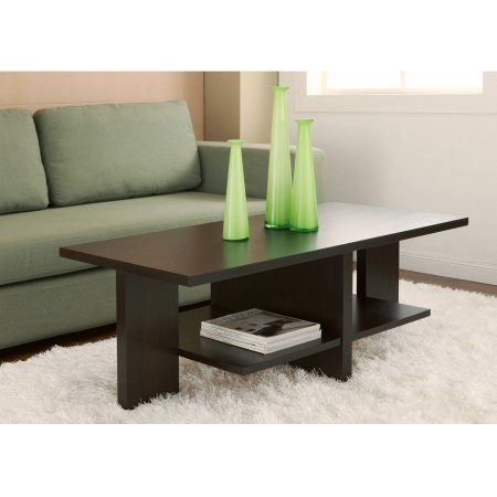 Furniture of America Avian Modern Design Coffee Table, Cappuccino - Marion Rectangular Cocktail Table