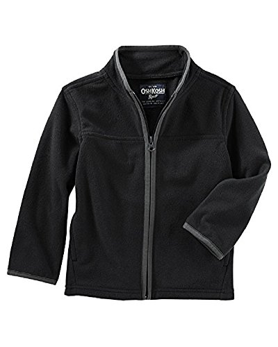 OshKosh B'Gosh Boys' Fleece Cozy 6M-14 (Black, 2T)