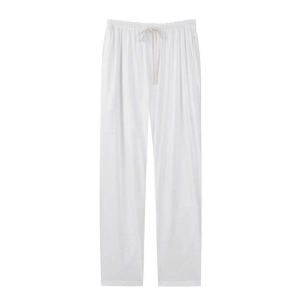 Pervobs Men's Casual Loose Solid Pockets Jogger Dancing Pant Sweatpants Trousers