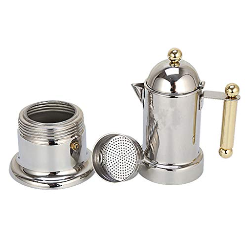 Prettyia Stovetop Espresso Maker - Moka Pot Coffee Maker for Stovetop or Induction Stove Top Espresso Shot Maker for Italian Espresso Cappuccino or Latte