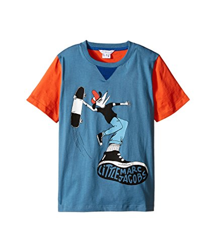 Price comparison product image Little Marc Jacobs Boy's Jersey Tee Shirt Fancy Crocodile On Front (Little Kids / Big Kids) Blue / Red T-Shirt 10 (Big Kids)