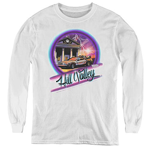Back to The Future Youth Long Sleeve T Shirt, White