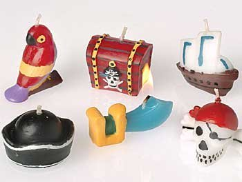 1 X Pirate Bithday Candles (set of 6)