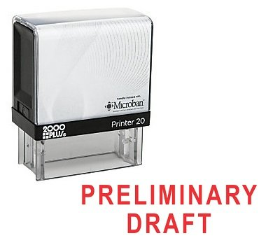 PRELIMINARY DRAFT Office Self Inking Rubber Stamp - Red Ink (A-5589) by StampExpression