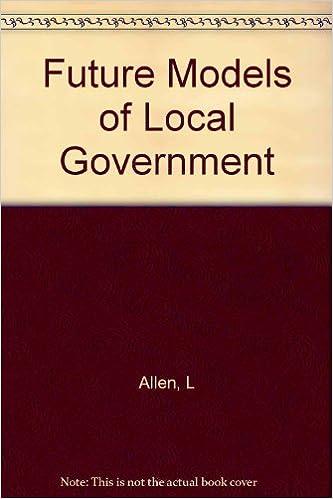 Téléchargement gratuit d'ebooks en ligne pdf Future Models of Local Government 1903447011 MOBI