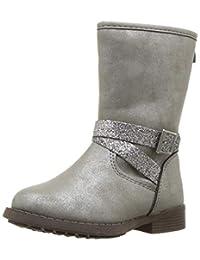 OshKosh B'Gosh Girls' Elsa Fashion Boot, Grey, 7 M US Toddler
