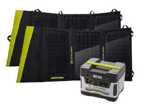 Goal Zero Yeti 400 Solar Generator Kit with Two Nomad 20 Solar Panels