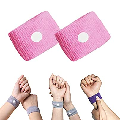 Vanproo Pack Pink Anti Nausea Wrist Bands Acupressure Wristbands Sickness Bands Ideal for Holiday and Travel Pregnancy Gift Estimated Price £1.99 -