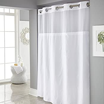 Hookless Mystery Shower Curtain With Its A Snap PEVA Liner Included