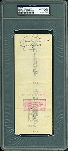 Jimmy Demaret Golf Authentic Signed 3X8.25 Aug 1969 Check PSA Slabbed #83554868 - Jimmy Demaret Golf