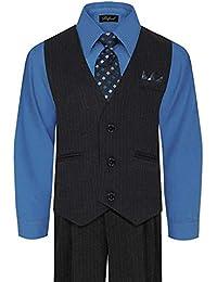 Little Boys' and Big Boys' Special Occasion Pinstripe Vest Set Infant-20