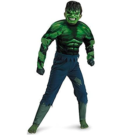 the incredible hulk deluxe boys halloween fancy dress costume outfit size 10 12 by incredible
