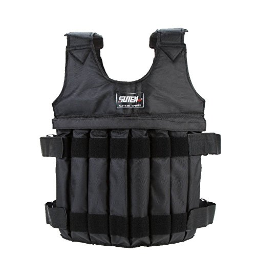 Yosoo Max Loading 20kg Adjustable Weighted Vest Weight Jacket Exercise Boxing Training Waistcoat Invisible Weightloading Sand Clothing