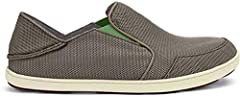 The OluKai® Nohea Mesh gives you one more reason to hit the outdoors. You GO, Handsome! Lightweight and breathable air mesh upper.  Easy slip-on design with dual goring. Collapsible-back shoe features a fold-down heel counter that allows it t...