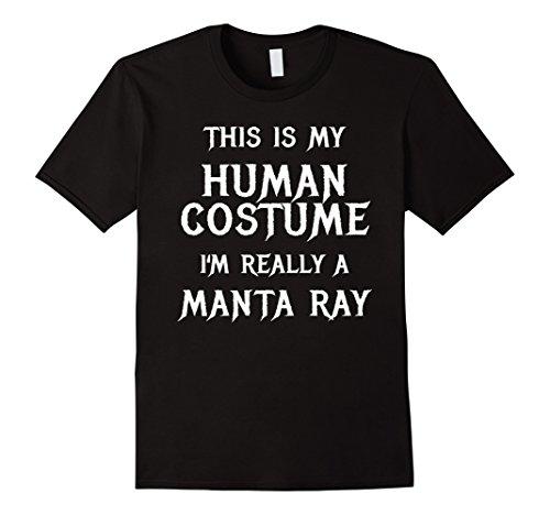 Black Manta Costume (Mens I'm Really a Manta Ray Halloween Costume Shirt Easy Funny Large Black)