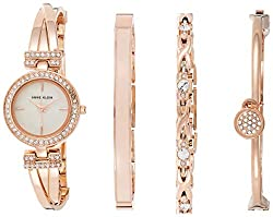 Swarovski Crystal-Accented Bangle Watch