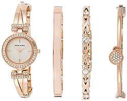 Swarovski Crystal-Accented Bangle Watch