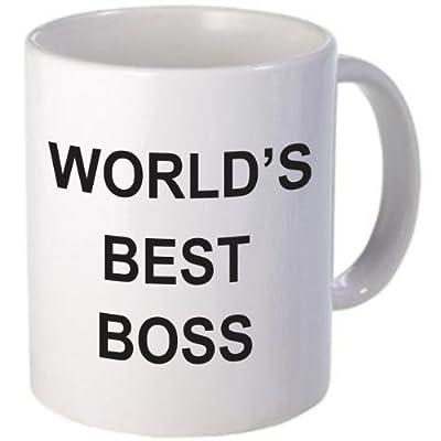 WORLD'S BEST BOSS Coffee Mug by Rikki Knight LLC from Rikki Knight LLC