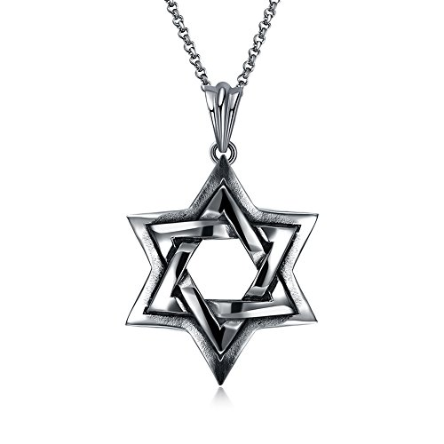 Dear Pageant Girl Costume (Star Hexagram Costume Necklace Stainless Steel Halloween Christmas Party Costume Jewelry)