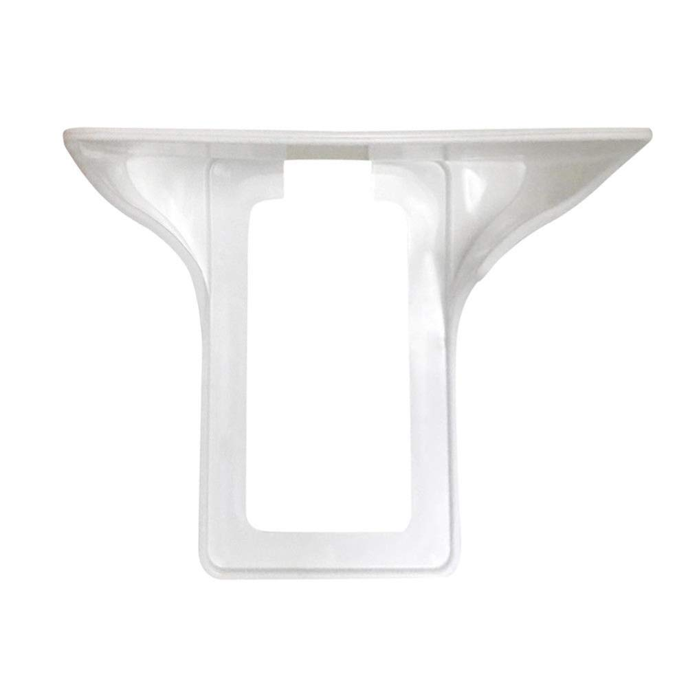 Vektenxi Wall Outlet Shelf Socket Mobile Phones Holder Kitchen Bathroom Storage Rack White Durable and Useful