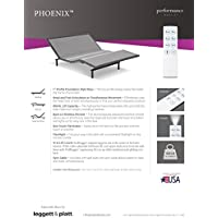 NEW LEGGETT & PLATT PHOENIX PLUS ADJUSTABLE BED WITH WALLHUGGER (Queen)
