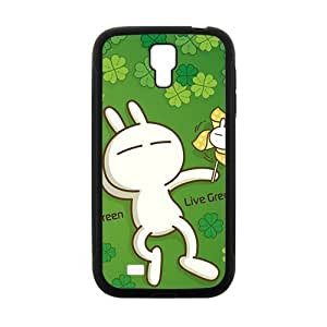 Love Green TUZKI With Four Leaf Clover Personalized Clear Cell Phone Case For Samsung Galaxy S4