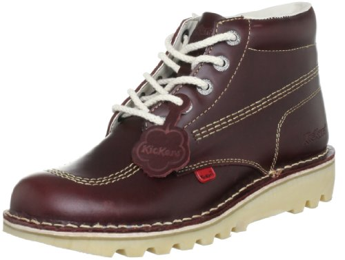 - Kickers Mens Kick Hi M Core Dark Red Leather Lace Up Ankle Boots Size 8
