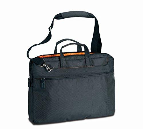 CRISTO-Borsa Messenger, colore: nero/arancione/orange_42 ctg29020_noir