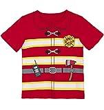 COSLAND Toddler Baby Boys' Heavyweight Fireman T-Shirts (3T, Fireman)