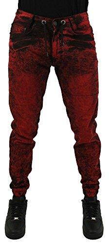 Jordan Craig Men's Robin Denim Slim Joggers Jeans Pants Red Size 36x32