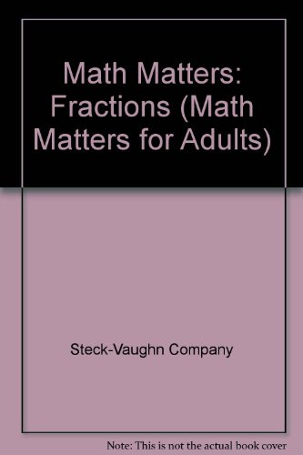 Fractions (Math Matters for Adults)