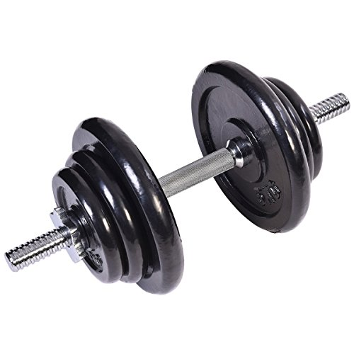 Giantex 44 LB Weight Dumbbell Set Adjustable Cap Gym Barbell Body Workout Iron Plates
