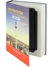 """HMF 80915 caja fuerte en forma de libro, caja de caudales camuflada, páginas de papel auténticas,""""Ein Städtetrip durch Deutschland"""", 23 × 15 × 4 cm, rotulación en alemán"""