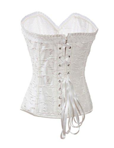 Mujer's Para Burlesque Cordón Outwear Corsé Zamme Blanco