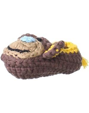 Unisex-Baby Newborn Safari Monkey Crochet Bootie