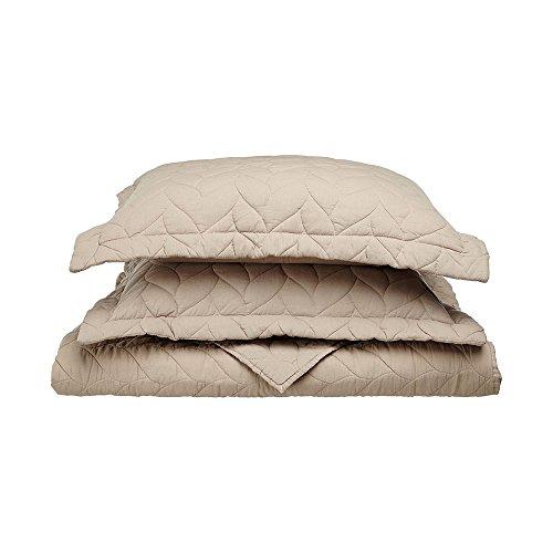 eLuxurySupply Braided Ashley Quilt 100% Cotton, King/California King, Taupe