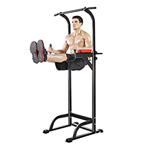 cheesea Body Fitness Power Tower,Olympic Station Standing Pull Up/Push Up/ Knee Exercise for Indoor Home Gym