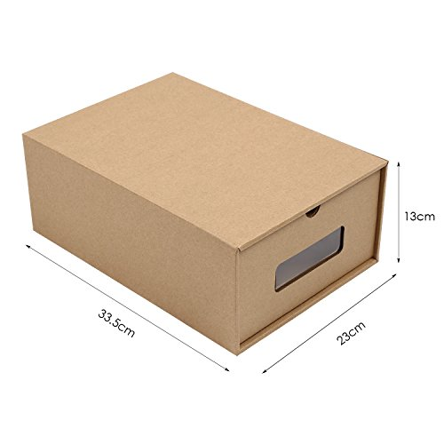 -[ MVPOWER 10PCS Shoe Box DIY Visible Cardboard Shoe Storage Boxes for Ladies,Men  ]-