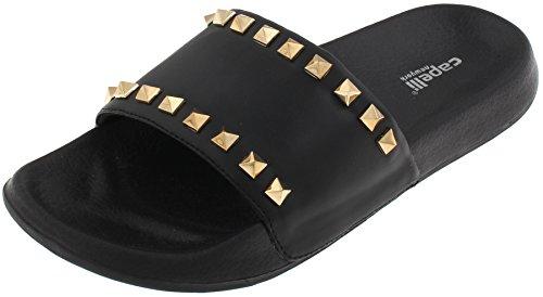 Capelli New York Ladies Slide with Stud Detail Black 11