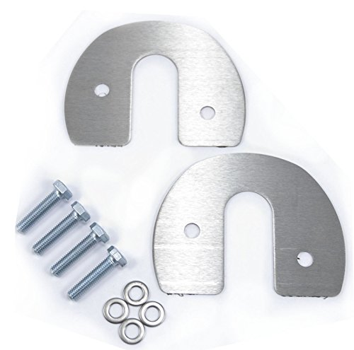 1979-1993 Mustang Polished Stainless Hood Hinge at Firewall Covers - Pair