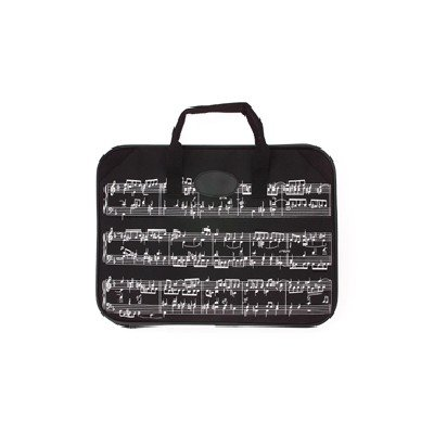 Gift House Music Briefcase Sheet Music Design (Music Book Carrying Case)