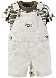 Carter's Baby Boys' 2 Piece Shortall Set (Baby) - Ivory - 9 Months