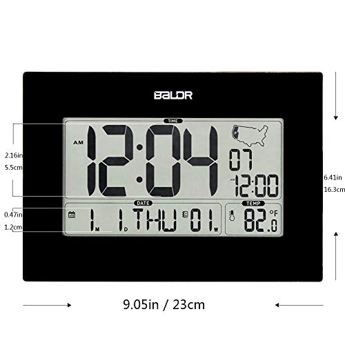 Wall Thermometer & Calendar, Operated, Self Large Display Indoor Temperature Gauge Date -