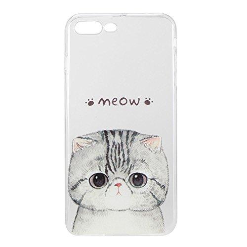 Für Apple iPhone 7 Plus (5,5 Zoll) Hülle ZeWoo® TPU Schutzhülle Silikon Tasche Case Cover - HX013 / Kätzchen