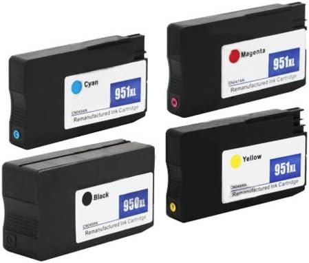 Yellow,Magenta for HP Minelody Cartridge Black 4pcs 950//951XL High Yield Original Ink Cartridge for Cyan