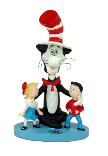 Dr Seuss Cat in the Hat 5 Inch Tall Bobblehead - Cake Seuss Dr