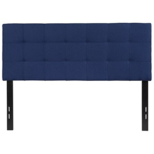 (Flash Furniture Bedford Tufted Upholstered Full Size Headboard in Navy Fabric - HG-HB1704-F-N-GG )
