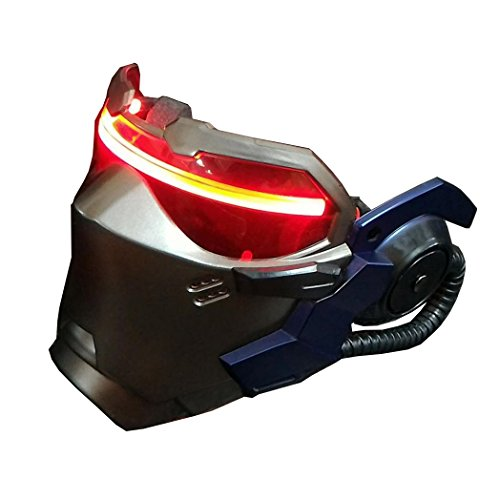 Nice-Buy OW Soldier 76 AIR Vents Luminous Mask Jack Morrison Game Cosplay Prop Replica (with Light)]()