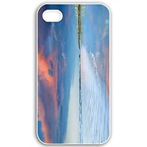 Apple iPhone 4 4S Cases Customized Gifts Of Beach beaches lovely beach day 16873 Black